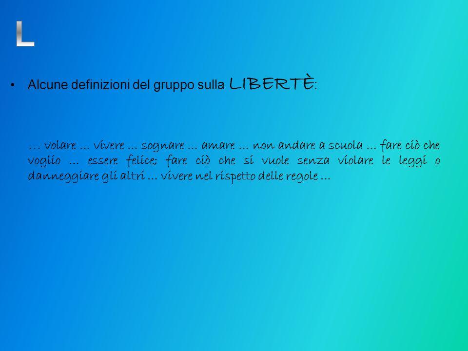 L Alcune definizioni del gruppo sulla LIBERTÈ: