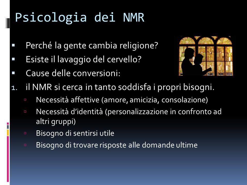 Psicologia dei NMR Perché la gente cambia religione