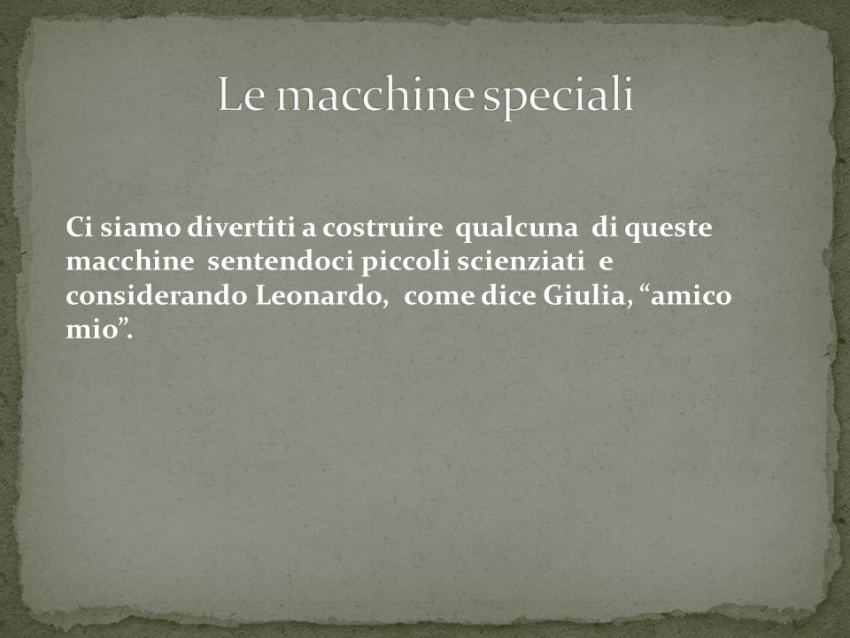 Le macchine speciali