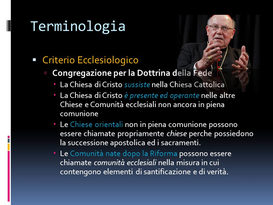 Terminologia Criterio Ecclesiologico