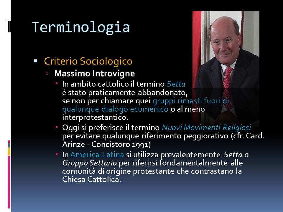 Terminologia Criterio Sociologico Massimo Introvigne