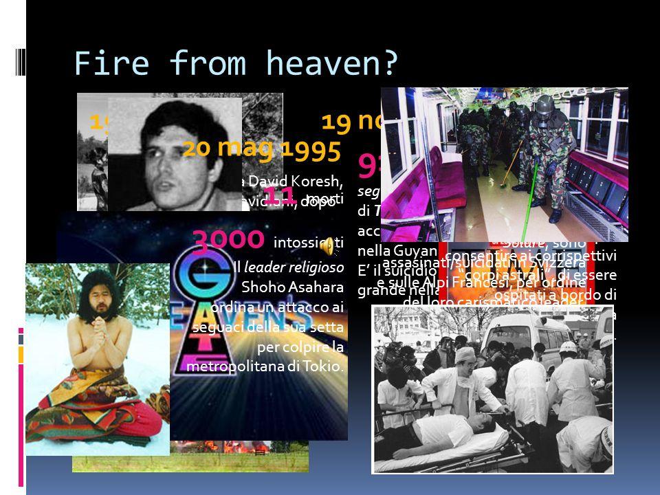 Fire from heaven 27 mar 1997. 19 apr 1993. 19 nov 1978.