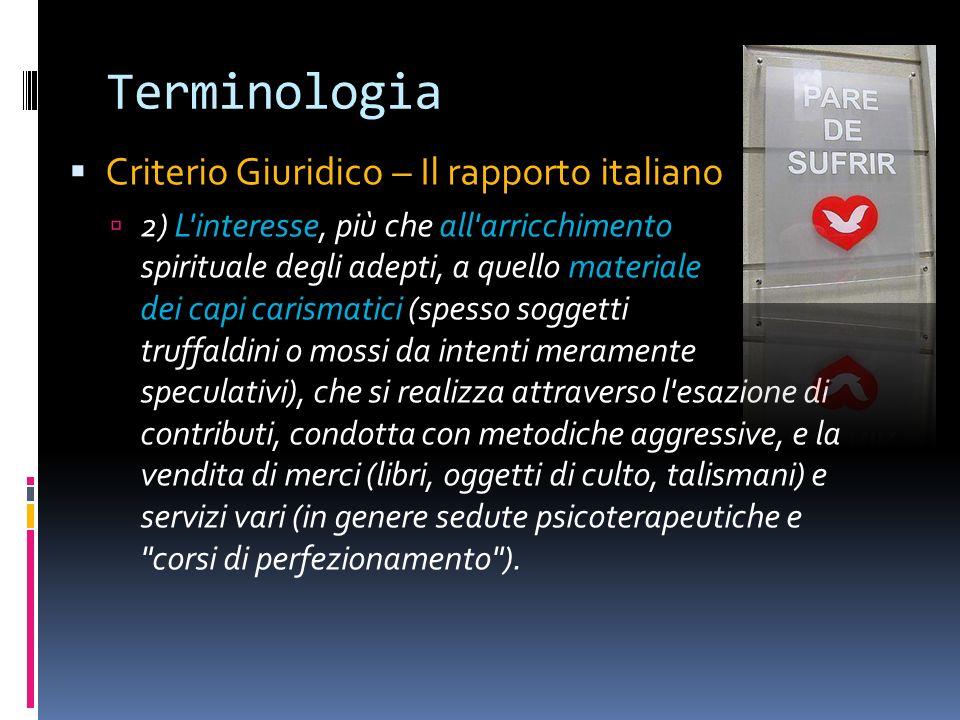 Terminologia Criterio Giuridico – Il rapporto italiano