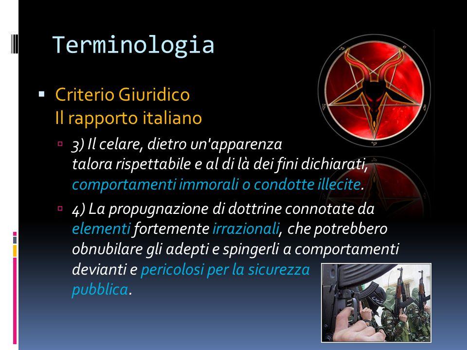 Terminologia Criterio Giuridico Il rapporto italiano