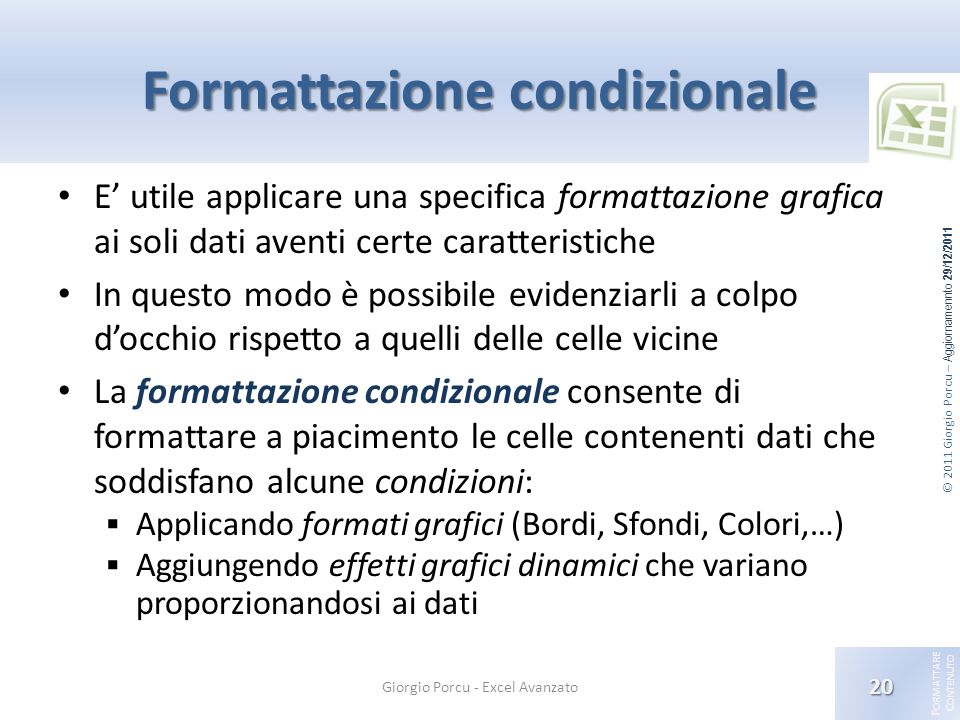 Formattazione condizionale