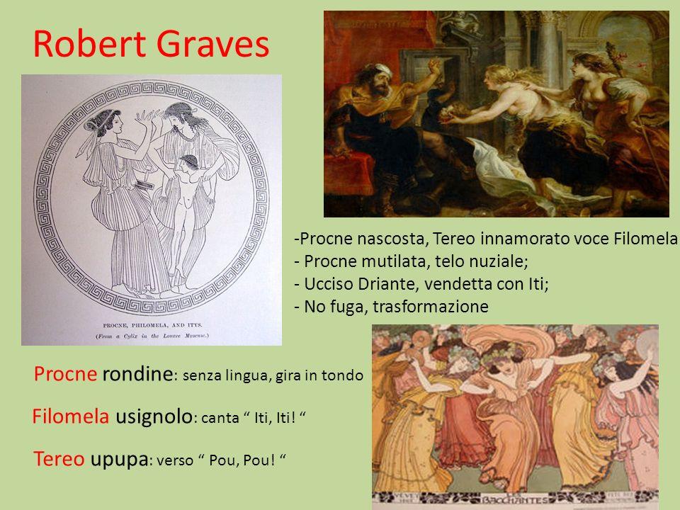 Robert Graves Procne rondine: senza lingua, gira in tondo
