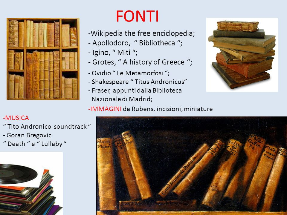 FONTI Wikipedia the free enciclopedia; Apollodoro, Bibliotheca ;