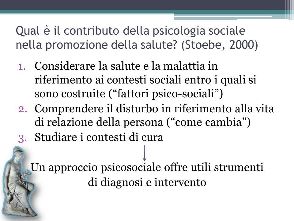 Qual è il contributo della psicologia sociale nella promozione della salute (Stoebe, 2000)
