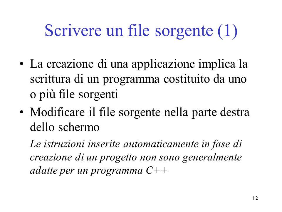 Scrivere un file sorgente (1)
