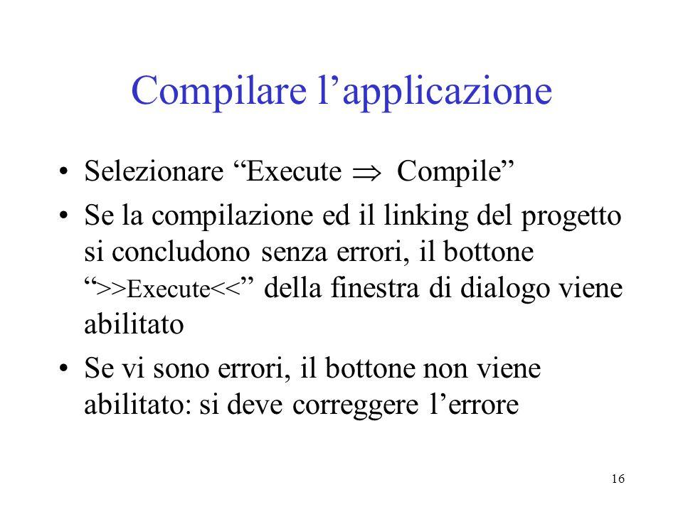 Compilare l'applicazione