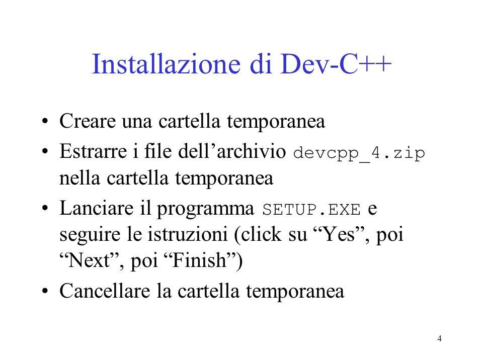 Installazione di Dev-C++