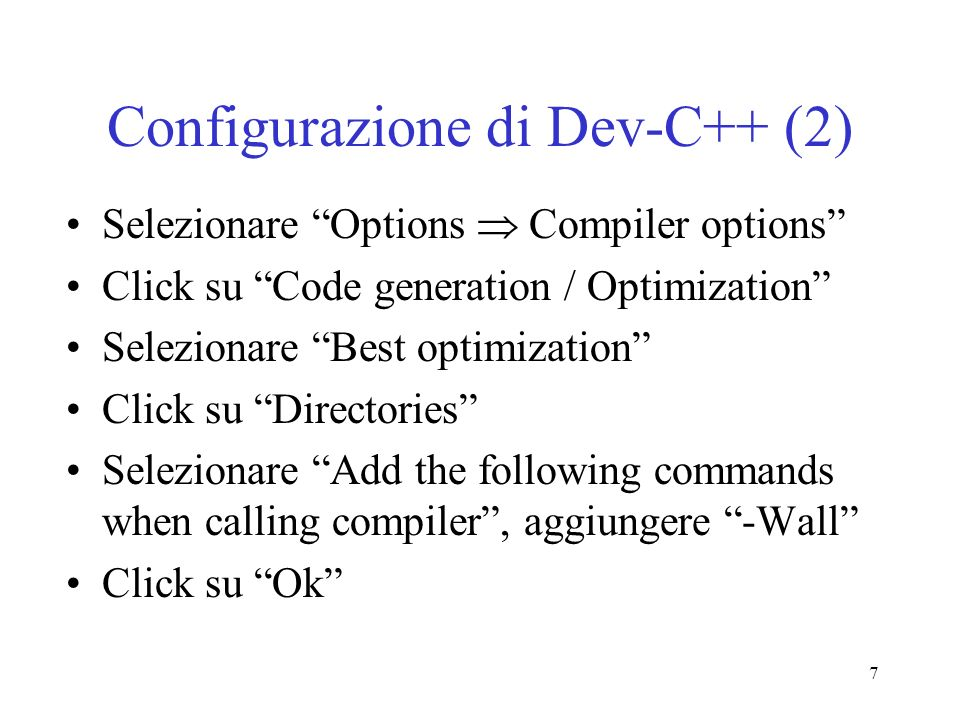 Configurazione di Dev-C++ (2)