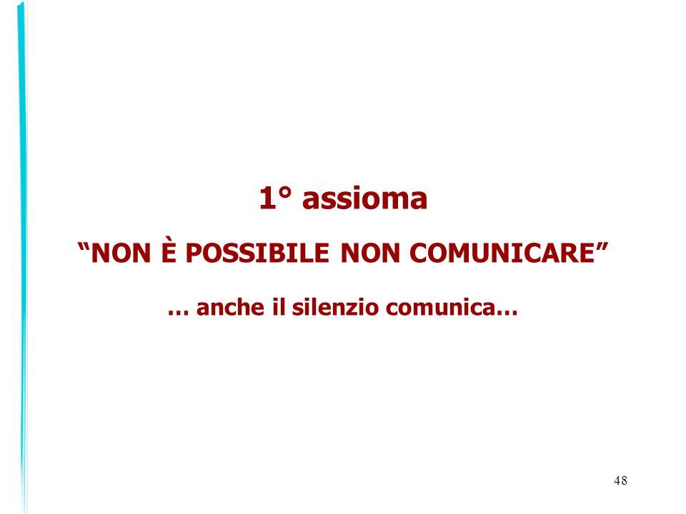 NON È POSSIBILE NON COMUNICARE … anche il silenzio comunica…