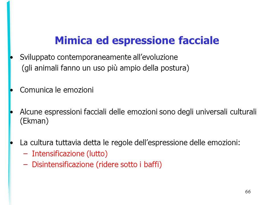 Mimica ed espressione facciale