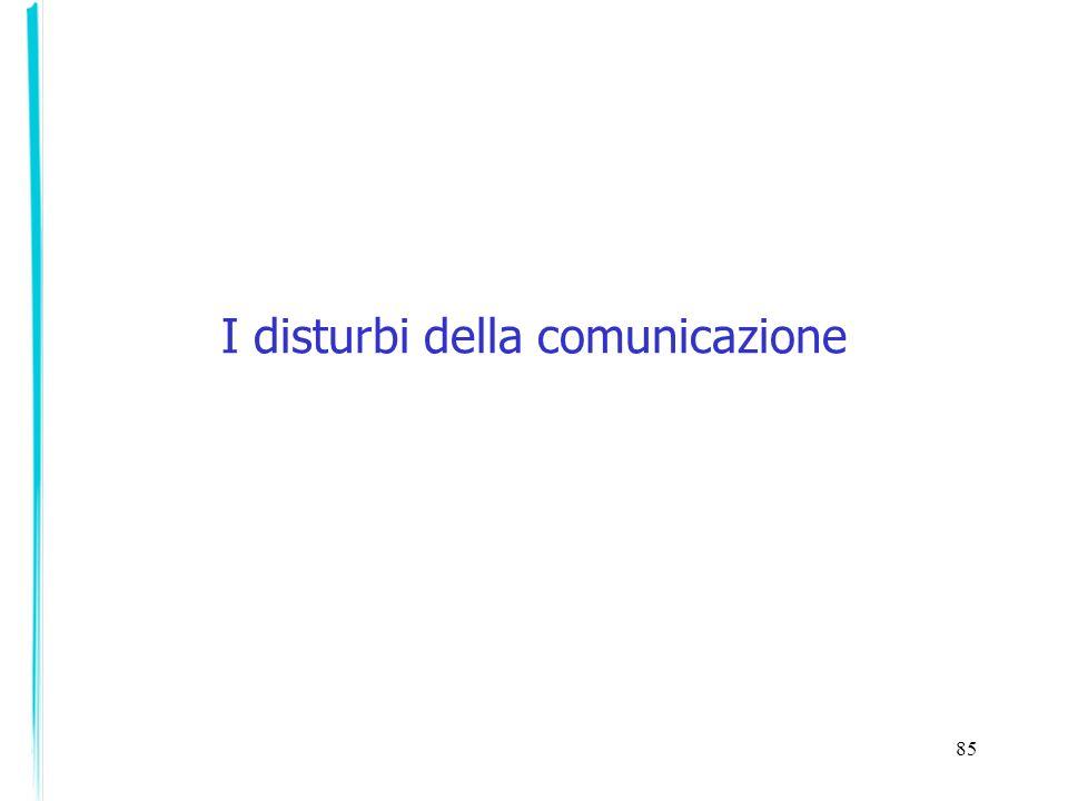 I disturbi della comunicazione