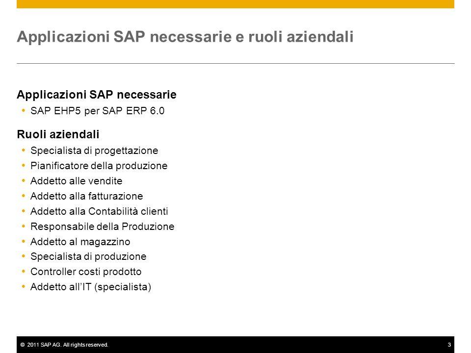Applicazioni SAP necessarie e ruoli aziendali