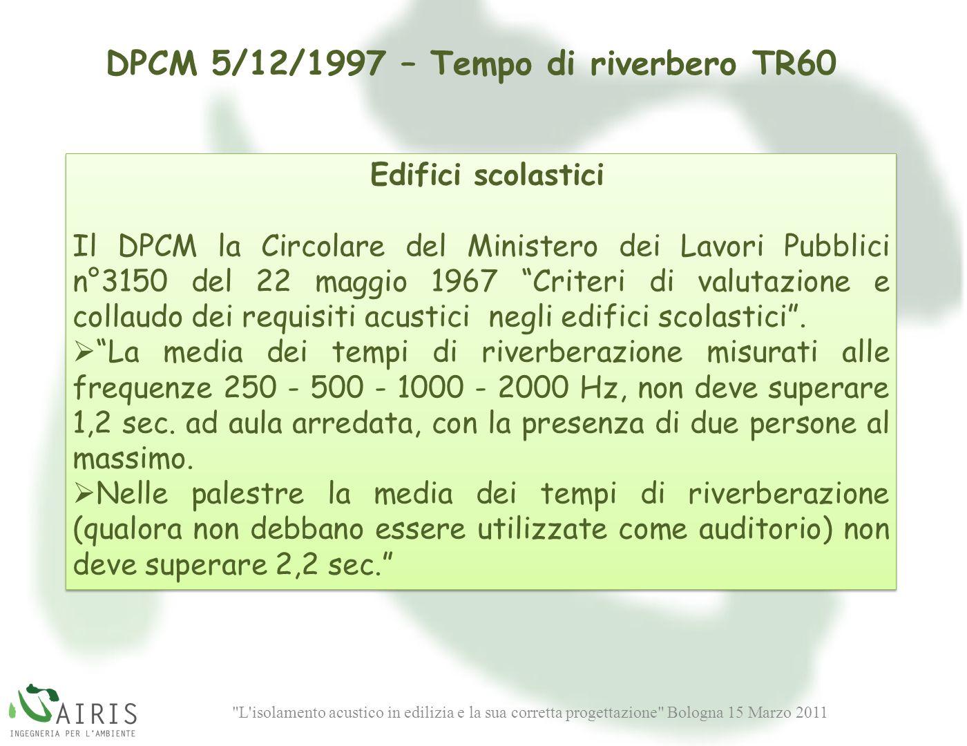 DPCM 5/12/1997 – Tempo di riverbero TR60