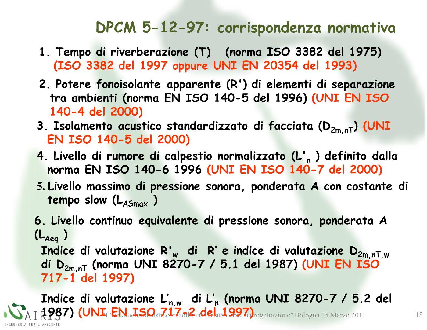 DPCM 5-12-97: corrispondenza normativa
