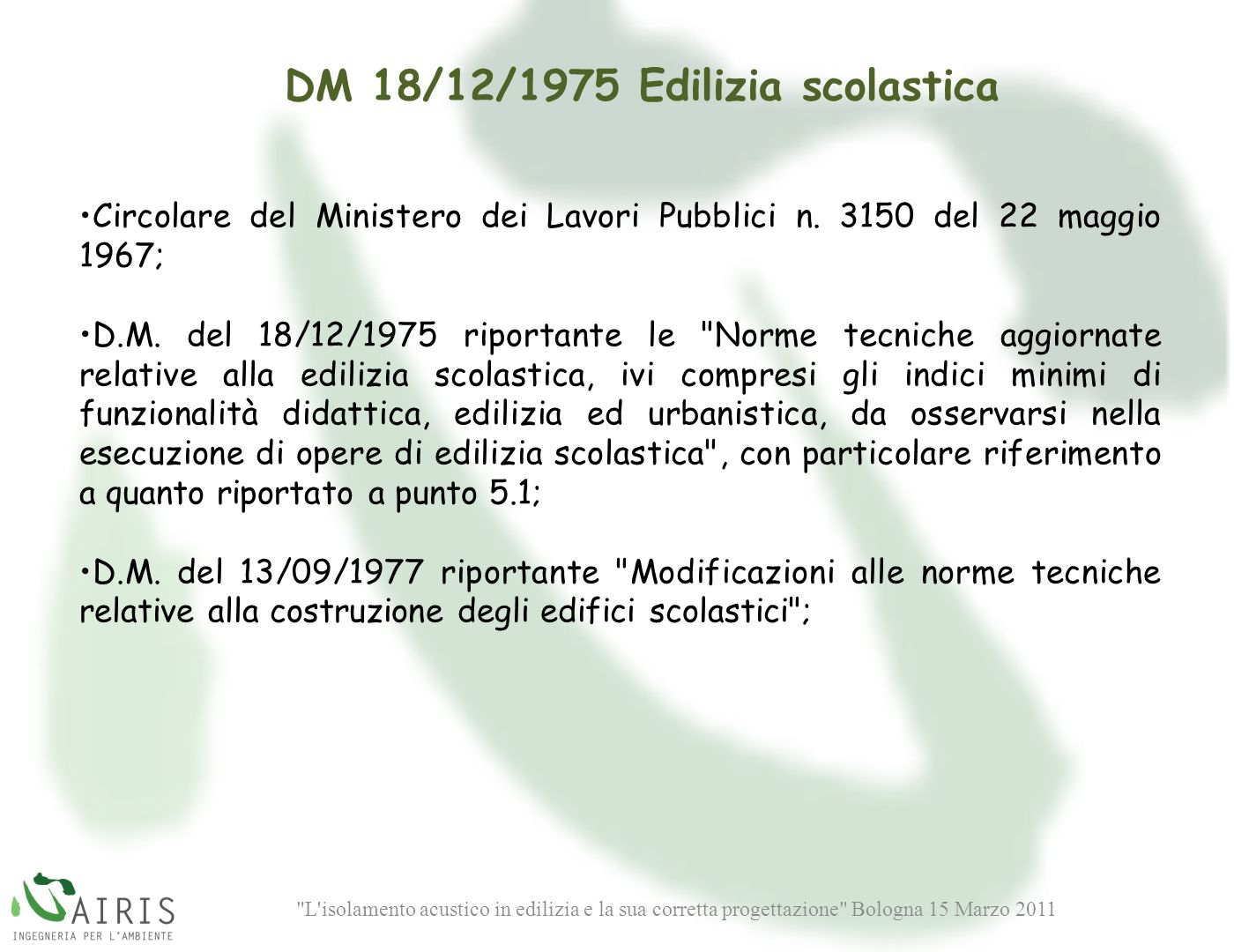 DM 18/12/1975 Edilizia scolastica