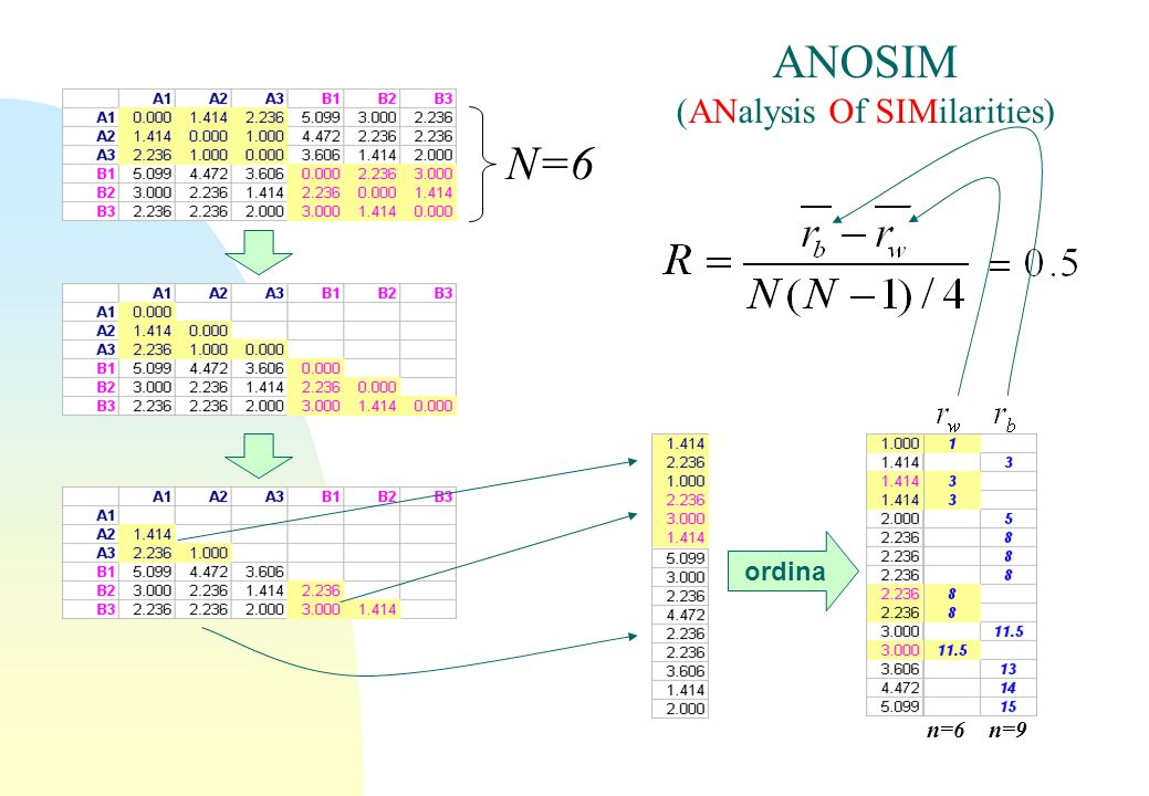 ANOSIM (ANalysis Of SIMilarities)