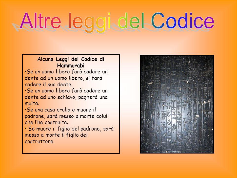 Alcune Leggi del Codice di Hammurabi