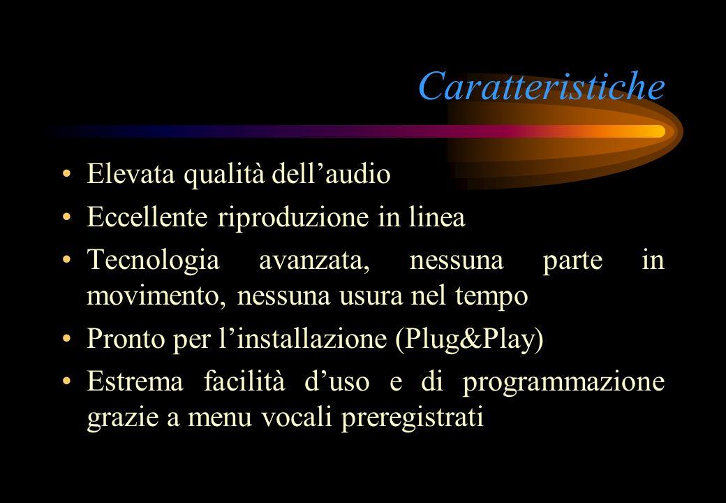 Caratteristiche Elevata qualità dell'audio