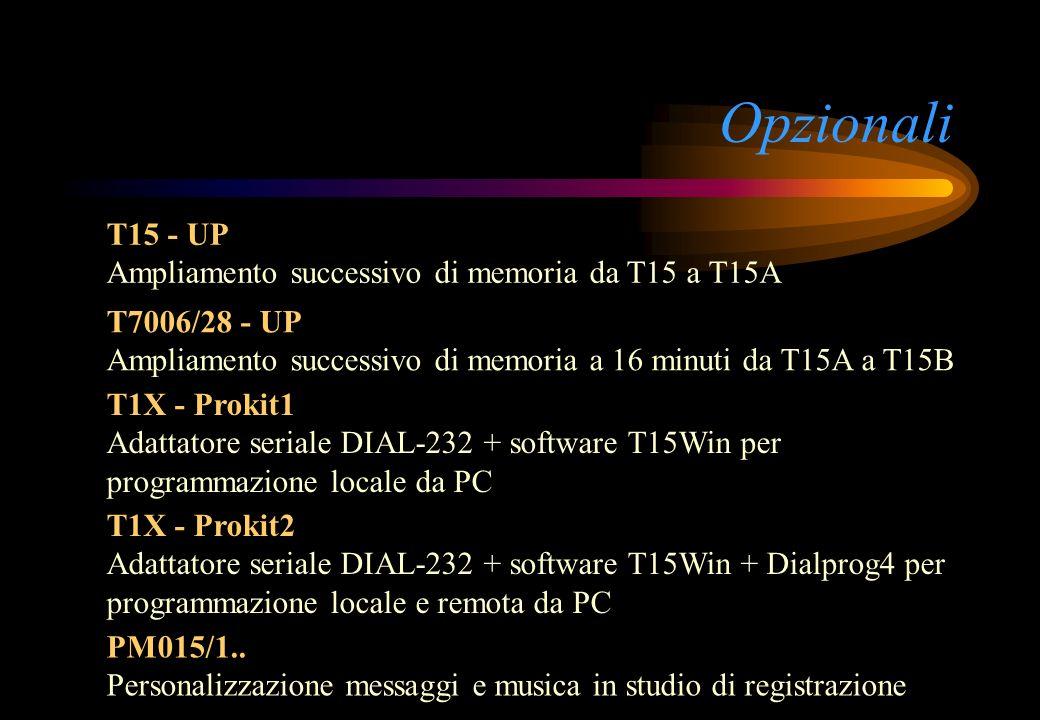 Opzionali T15 - UP Ampliamento successivo di memoria da T15 a T15A