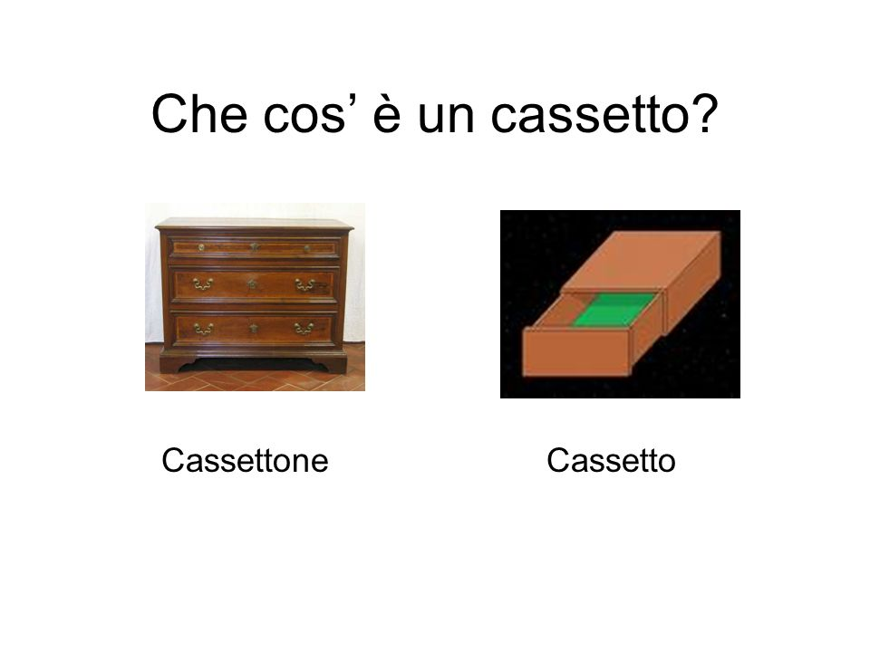 Che cos' è un cassetto Cassettone Cassetto