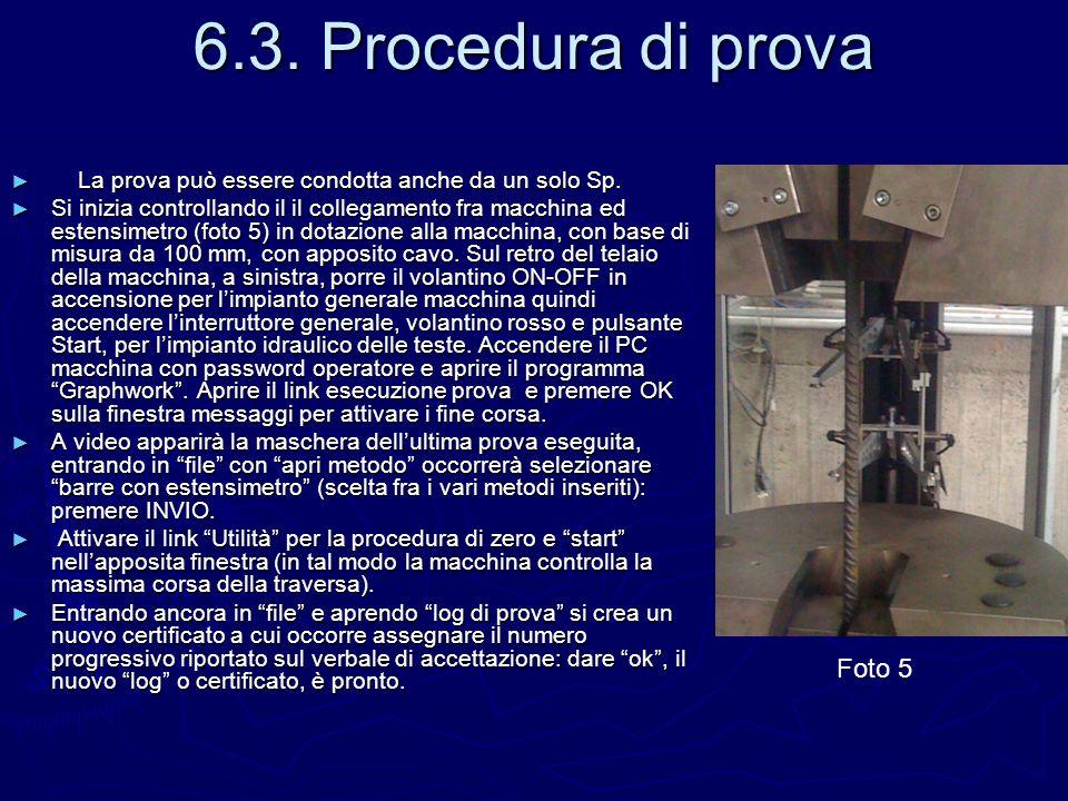 6.3. Procedura di prova Foto 5