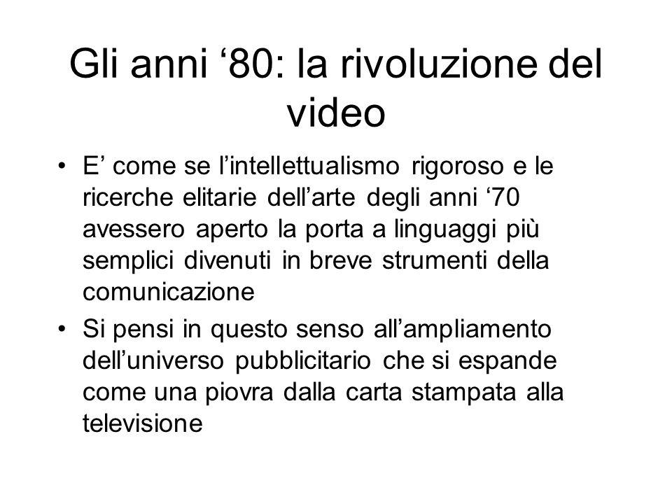 Gli anni '80: la rivoluzione del video