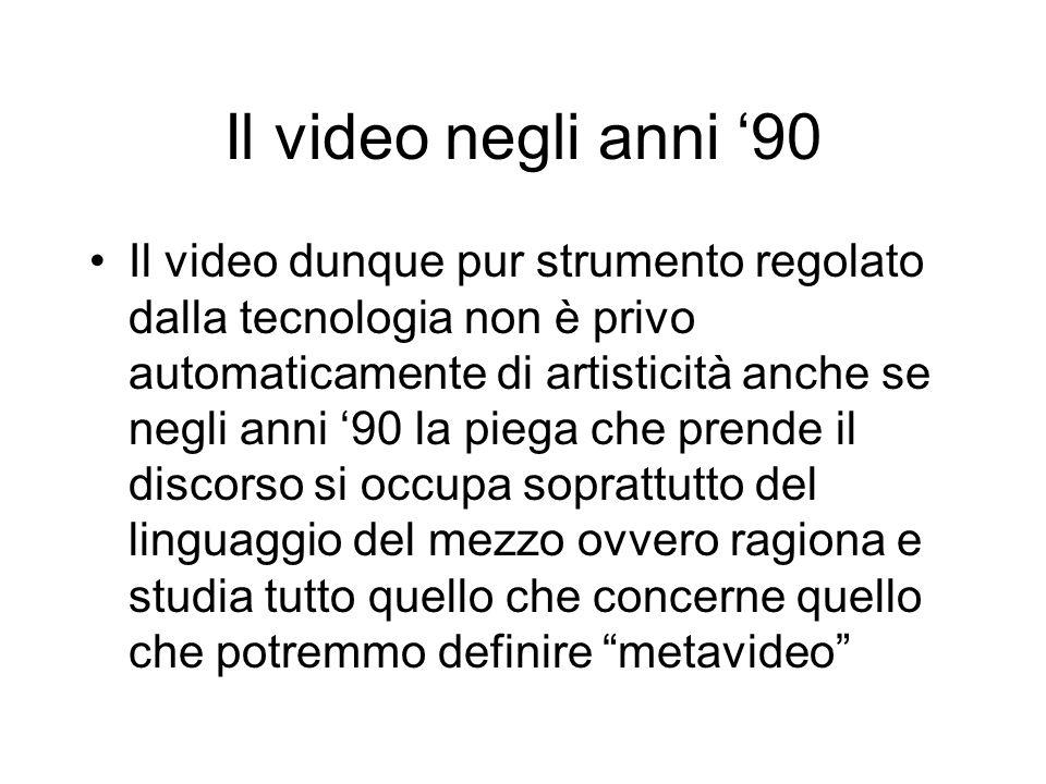 Il video negli anni '90