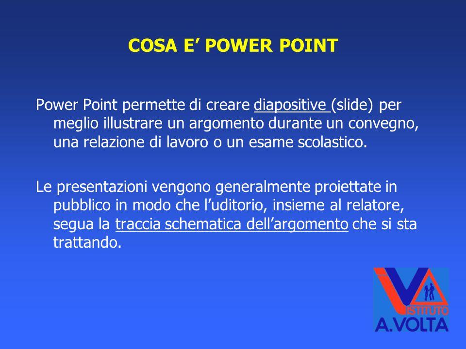COSA E' POWER POINT