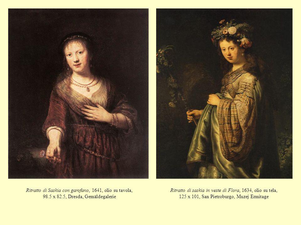 Ritratto di Saskia con garofano, 1641, olio su tavola, 98. 5 x 82