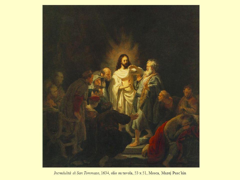 Incredulità di San Tommaso, 1634, olio su tavola, 53 x 51, Mosca, Muzej Pusc'kin
