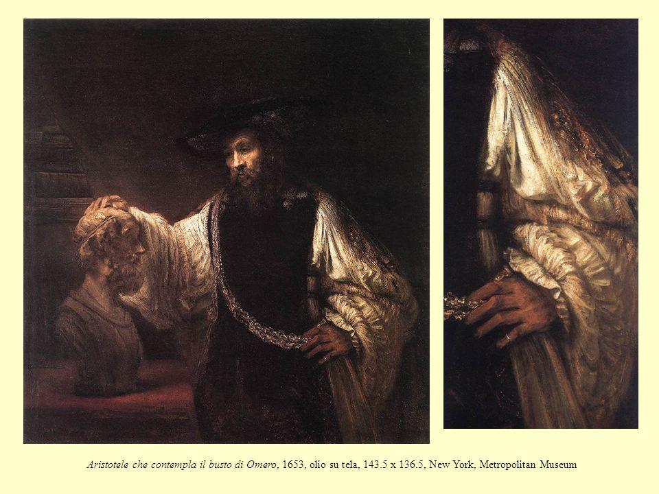 Aristotele che contempla il busto di Omero, 1653, olio su tela, 143