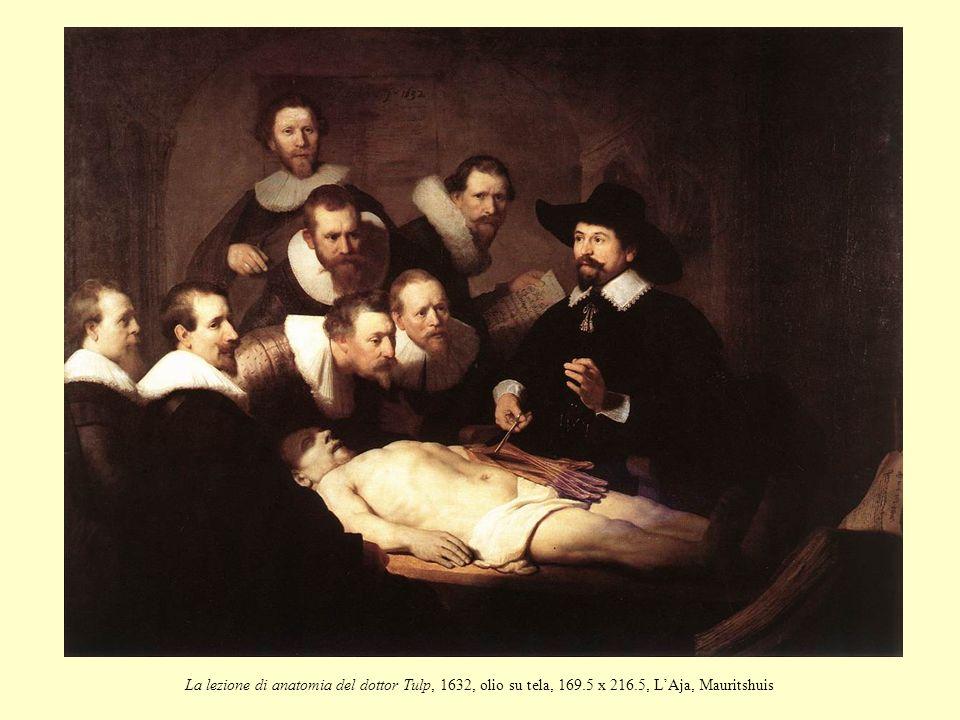 La lezione di anatomia del dottor Tulp, 1632, olio su tela, 169