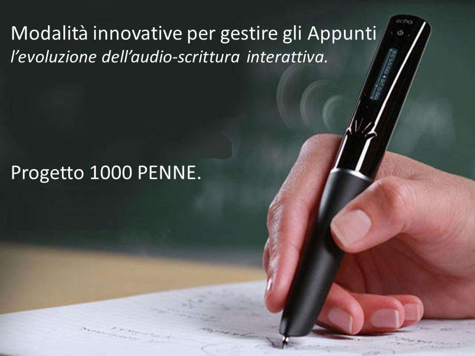 Modalità innovative per gestire gli Appunti l'evoluzione dell'audio-scrittura interattiva.