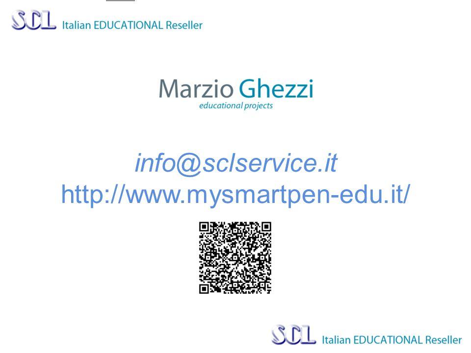 info@sclservice.it http://www.mysmartpen-edu.it/