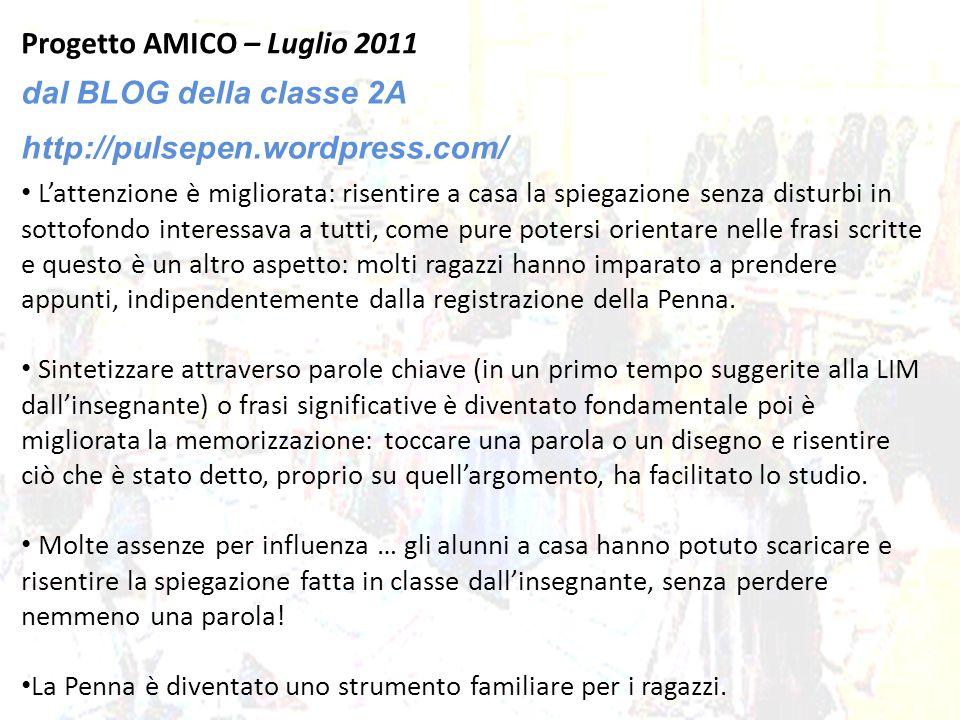 Progetto AMICO – Luglio 2011