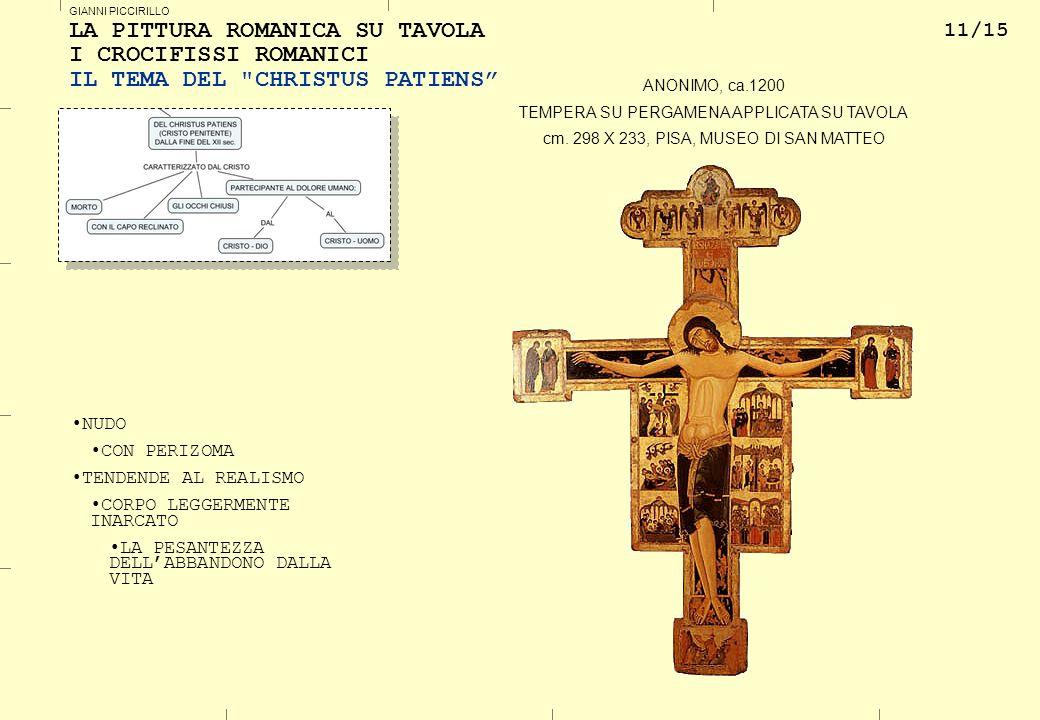 LA PITTURA ROMANICA SU TAVOLA I CROCIFISSI ROMANICI IL TEMA DEL CHRISTUS PATIENS