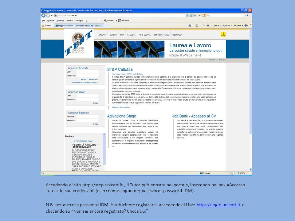 Accedendo al sito http://step. unicatt
