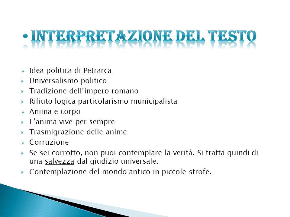 INTERPRETAZIONE DEL TESTO
