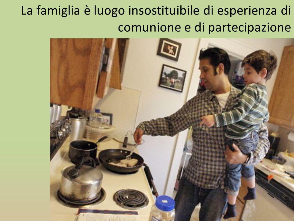 La famiglia è luogo insostituibile di esperienza di comunione e di partecipazione