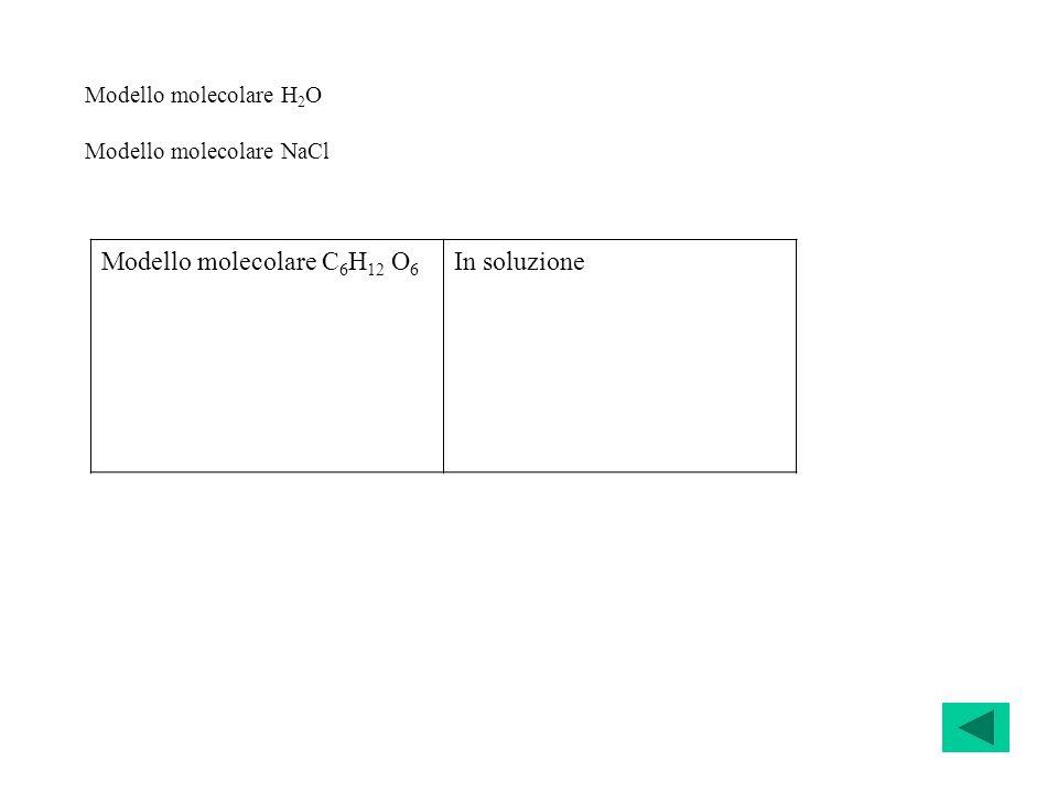 Modello molecolare C6H12 O6 In soluzione