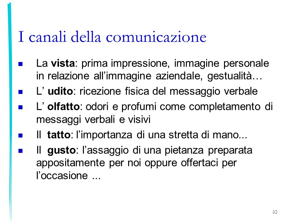 I canali della comunicazione