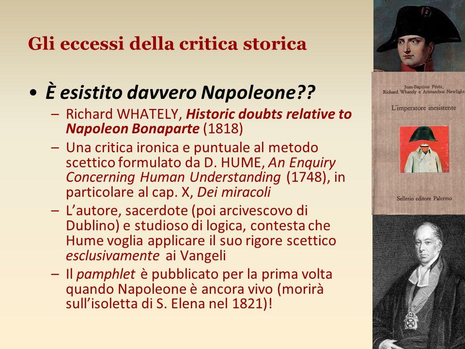 Gli eccessi della critica storica