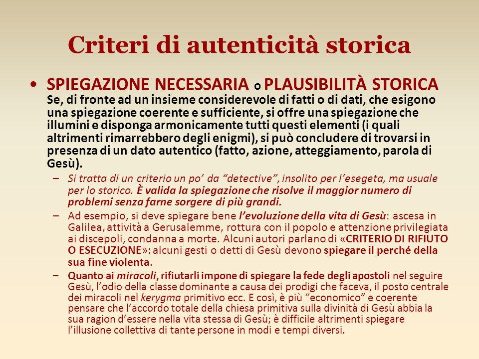 Criteri di autenticità storica