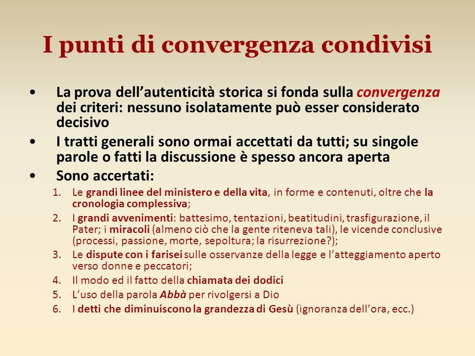 I punti di convergenza condivisi