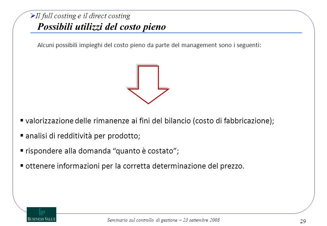 analisi di redditività per prodotto;