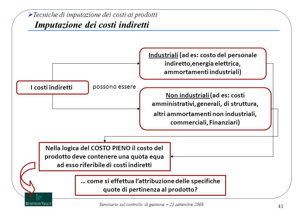 Non industriali (ad es: costi amministrativi, generali, di struttura,